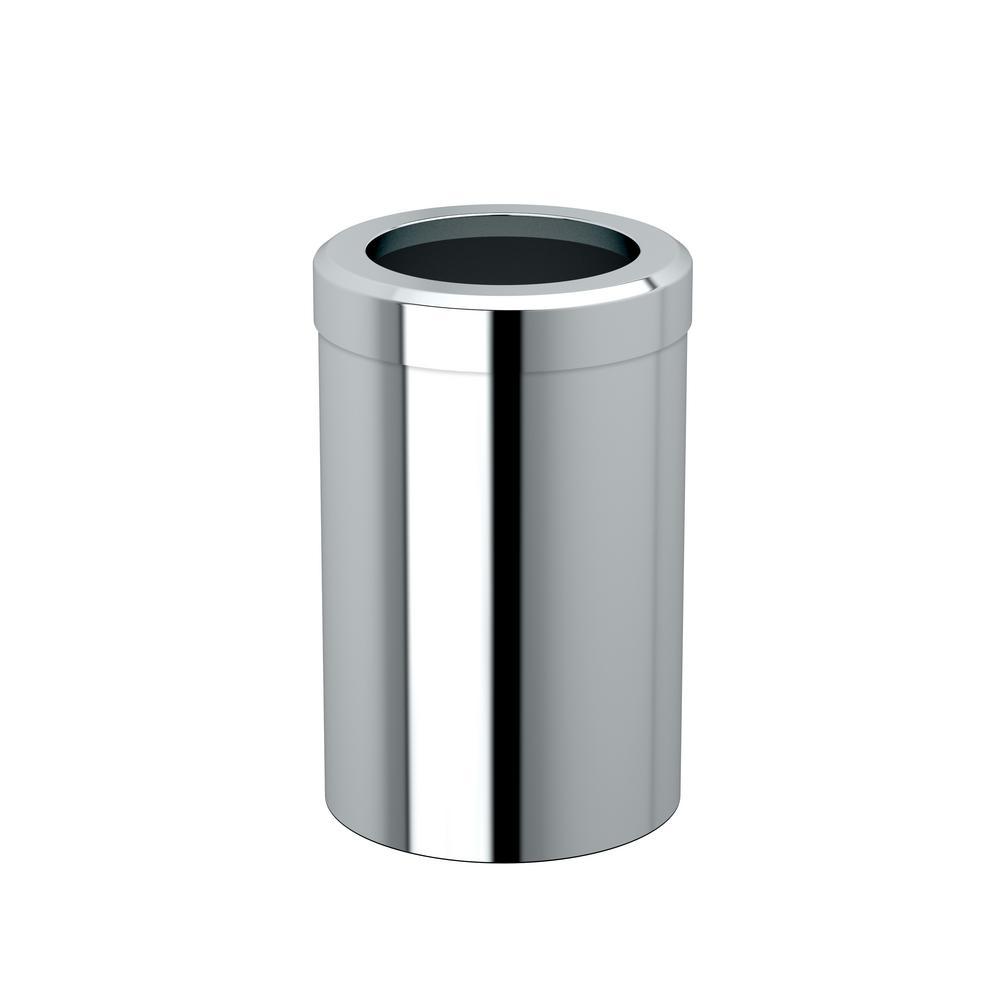 Modern Waste Can Round in Chrome