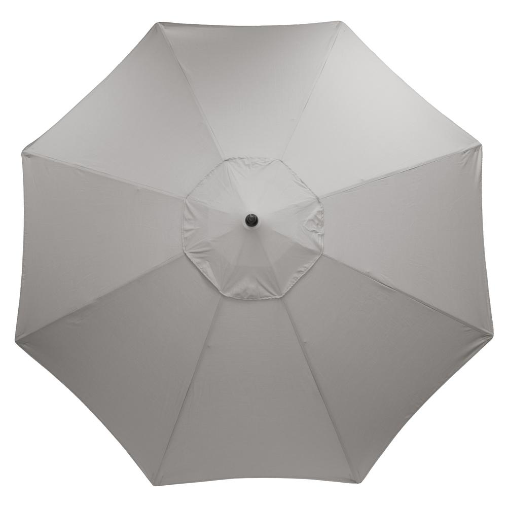 11 ft. Aluminum Market Patio Umbrella in CushionGuard Pewter