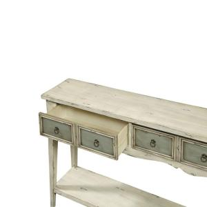 Delightful Internet #205430640. Pulaski Furniture Antique White And Weathered Grey  Storage Console Table