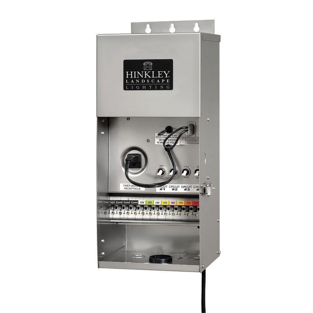 Hinkley Lighting 12-Volt 1200-Watt Stainless Steel High Output Multi-Tap Transformer