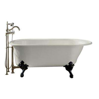 Iron Works 5.5 ft. Reversible Drain Historic Cast Iron Bathtub in White
