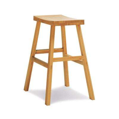 Erica 26 in. Caramelized 100% Solid Classic Bamboo Counter Stool (Set of 2)