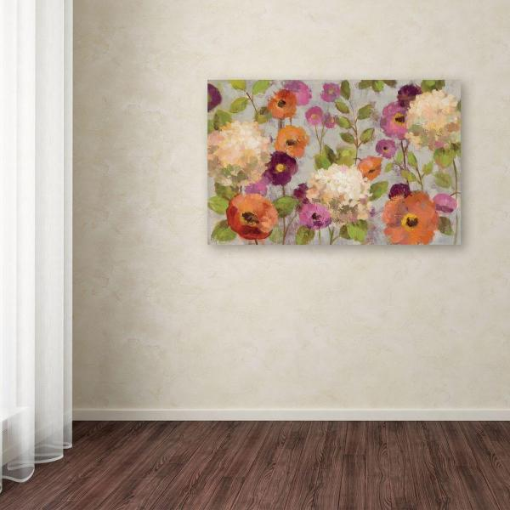 Trademark Fine Art 22 in. x 32 in. ''Hydrangeas and Anemones''