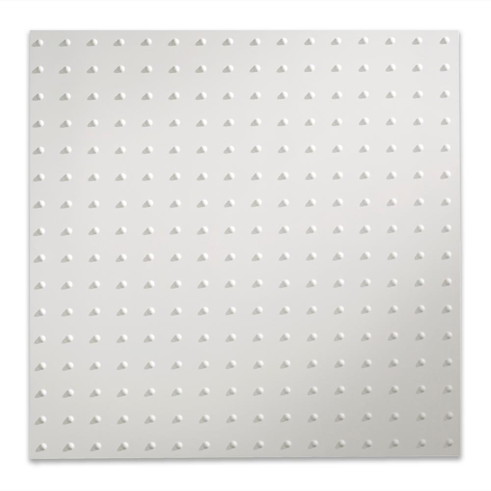 Fasade Minidome 2 Ft X 2 Ft Matte White Lay In Vinyl Ceiling Tile 20 Sq Ft Pl7201 The Home Depot