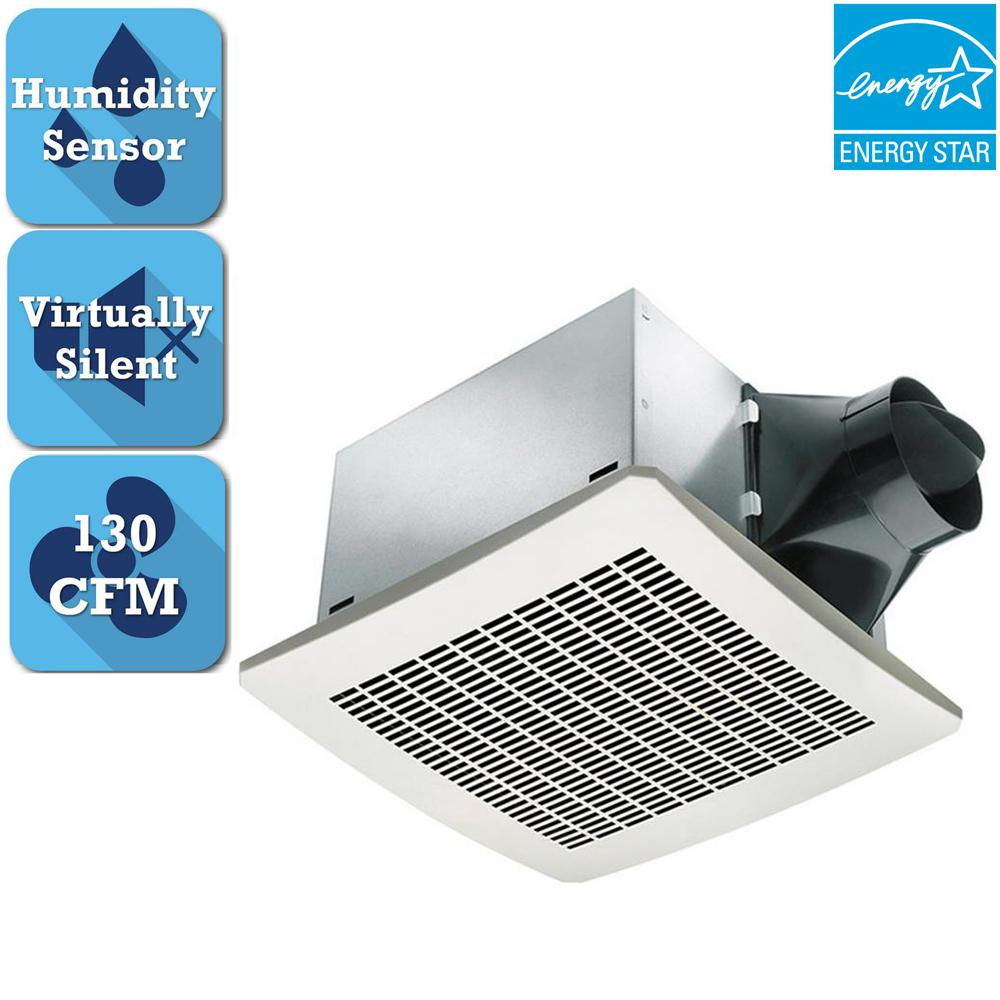 Delta Breez Signature Series 130 CFM Humidity Sensing Ceiling Bathroom Exhaust Fan, ENERGY STAR*