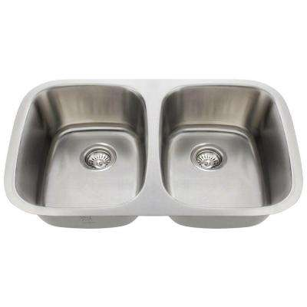 Undermount Stainless Steel 29 in. Double Bowl Kitchen Sink