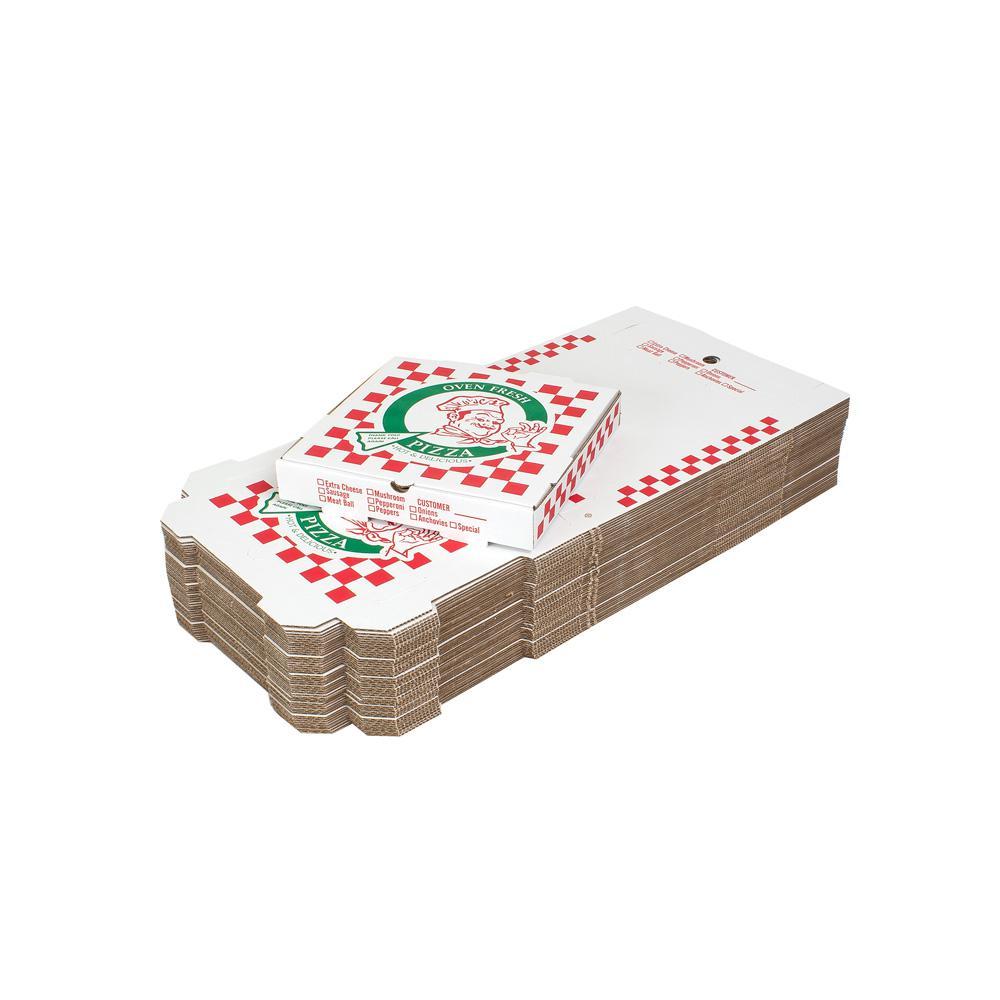 12 in. Pizza Box 100-Pack (12 in. L x 12 in. W x 1 7/8 in. D)