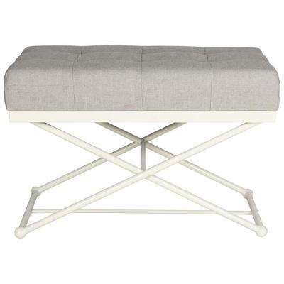 Cara Light Grey Bench