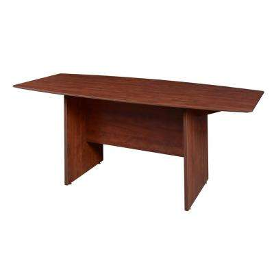Sandia 71 in. Cherry Boat Shape Conference Table