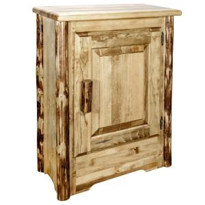 Glacier Right Hinged Country Collection Brown Accent Cabinet