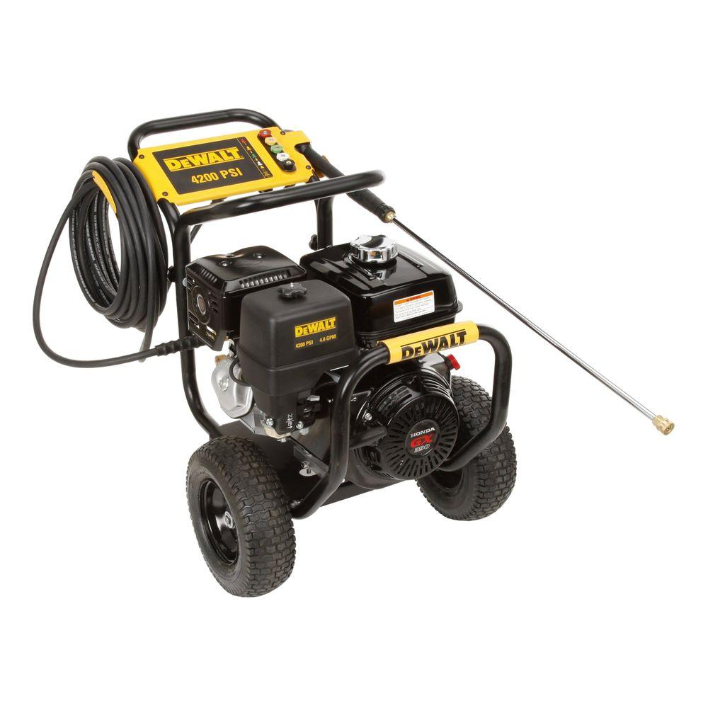 Good DEWALT Honda GX390 4,200 PSI 4 GPM Gas Pressure Washer