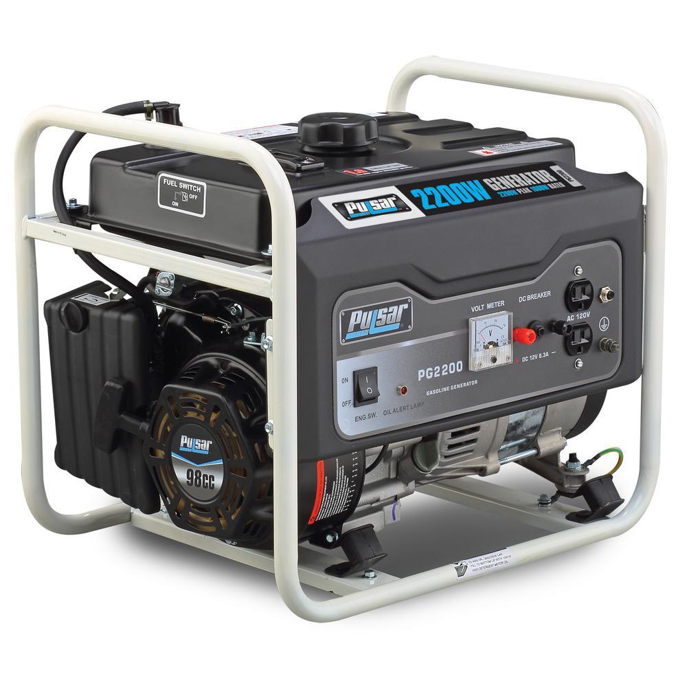 Pulsar 2,200/1,600-Watt Gasoline Powered Recoil Start Portable Generator with 98 cc Ducar Engine