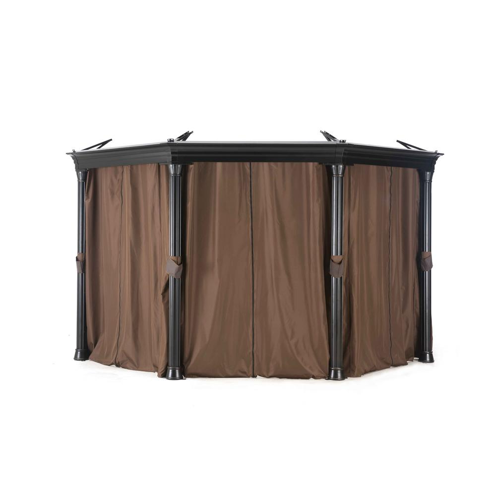 Sunjoy Universal Curtain For Round Gazebos 110109008 The Home Depot