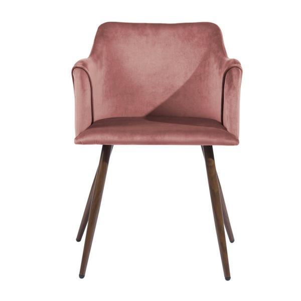 Furniture R Set of 2 Modern Dining Chairs Side Chair Mid-Back Velvet Upholstery Table Chair for Living Room Dining Room Rose
