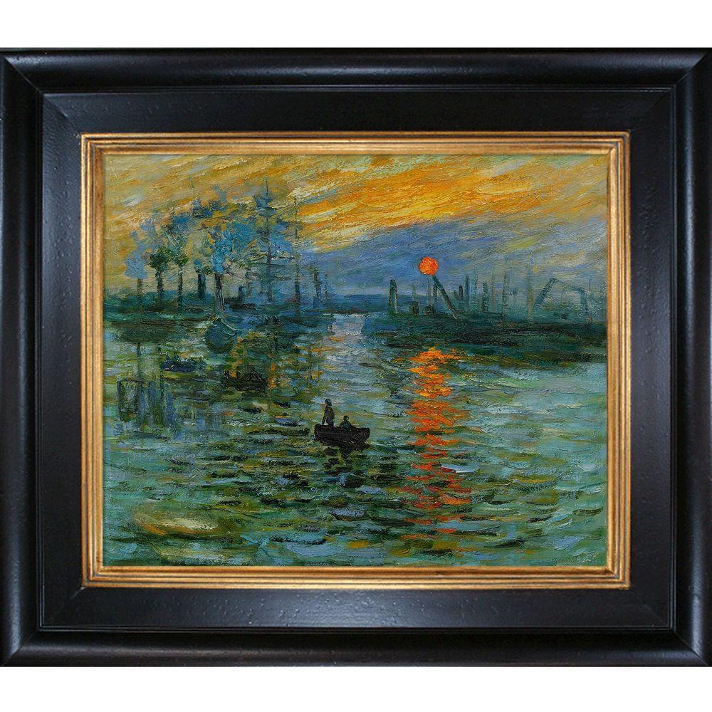 null 20 in. x 24 in. Impression, Sunrise Hand-Painted Classic Artwork