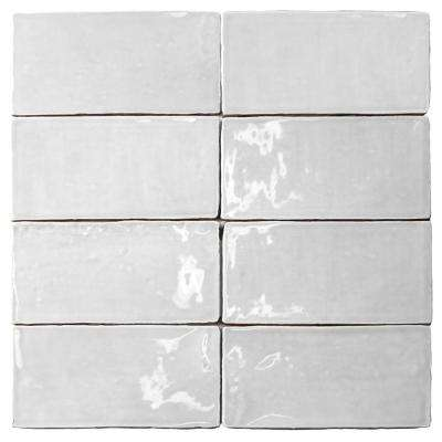 Catalina White 3 in. x 6 in. x 8 mm Polished Ceramic Subway Wall Tile (5.38 sq.ft./case)