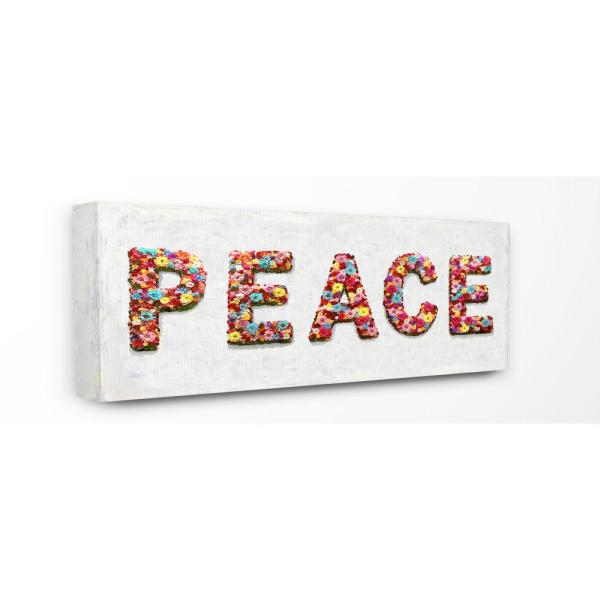 The Stupell Home Decor Collection 13 in. x 30 in. ''Peace