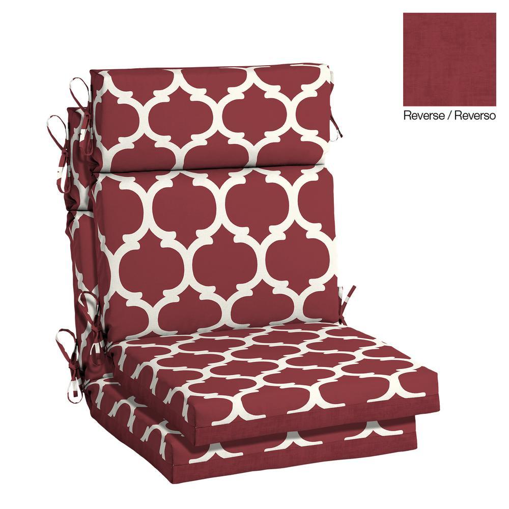 Wonderful Hampton Bay 21.5 X 20 Outdoor Dining Chair Cushion In Olefin Frida Trellis
