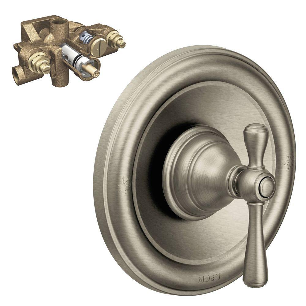 Kingsley Single-Handle Moentrol Valve Trim Kit in Brushed Nickel (Valve Included)