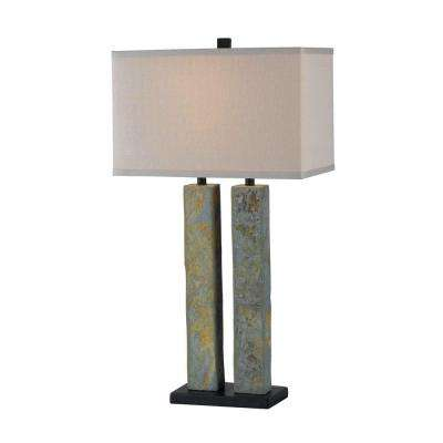Barre 31 in. Natural Slate Table Lamp