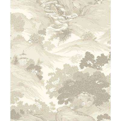 8 in. x 10 in. Ordos Cream Eastern Toile Sample