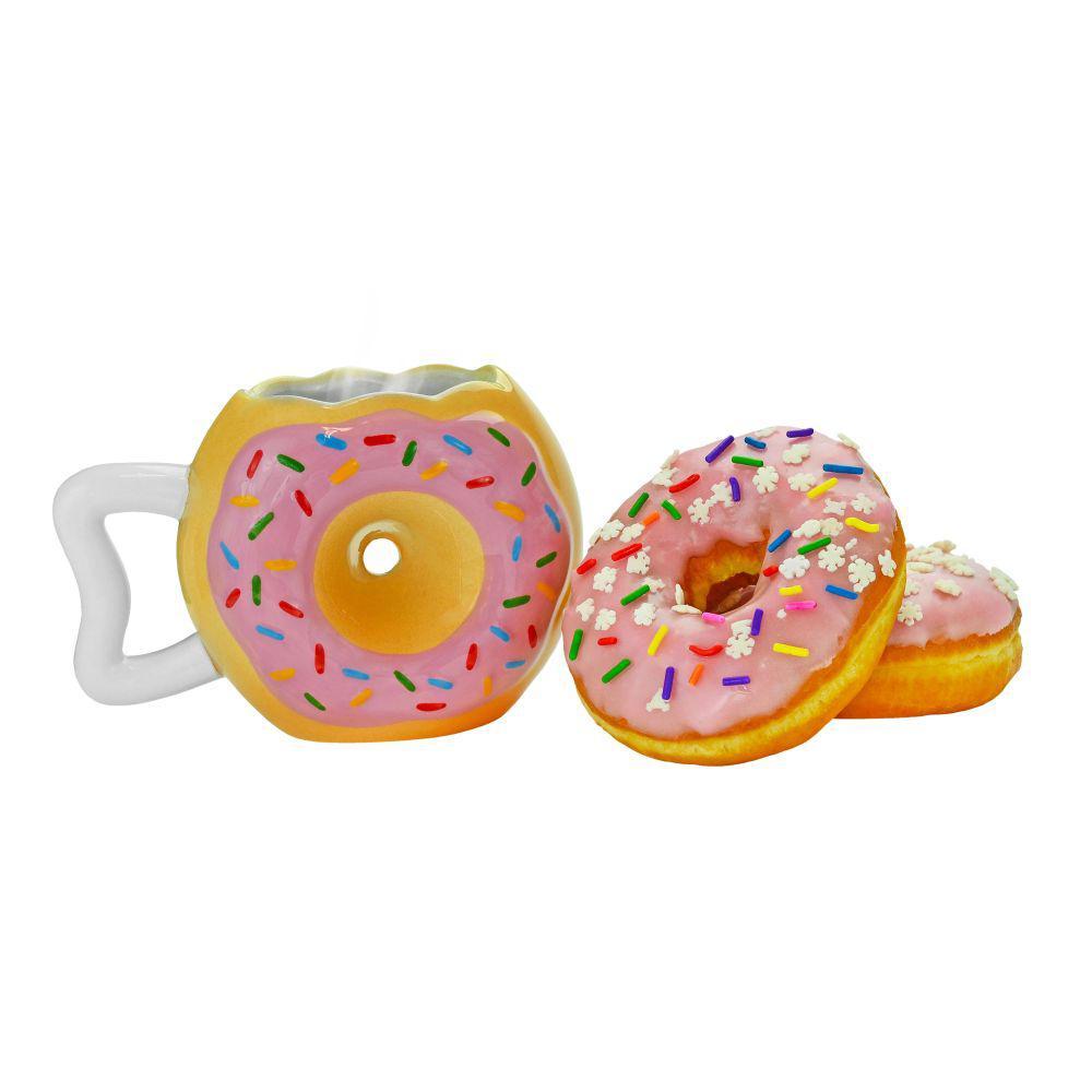 12 oz. Donut Shape Novelty Doughnut Coffee Mug