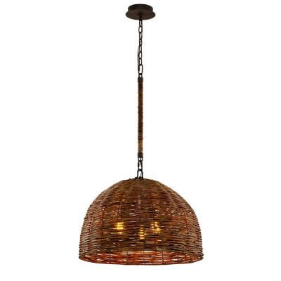 Huxley 3-Light Tidepool Bronze LED Pendant