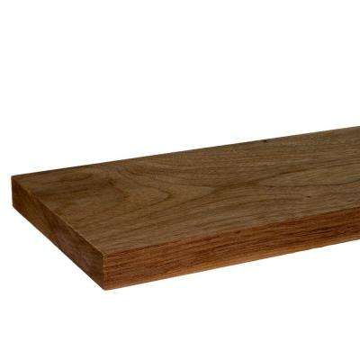 1 in. x 6 in. x 8 ft. S4S Walnut Board
