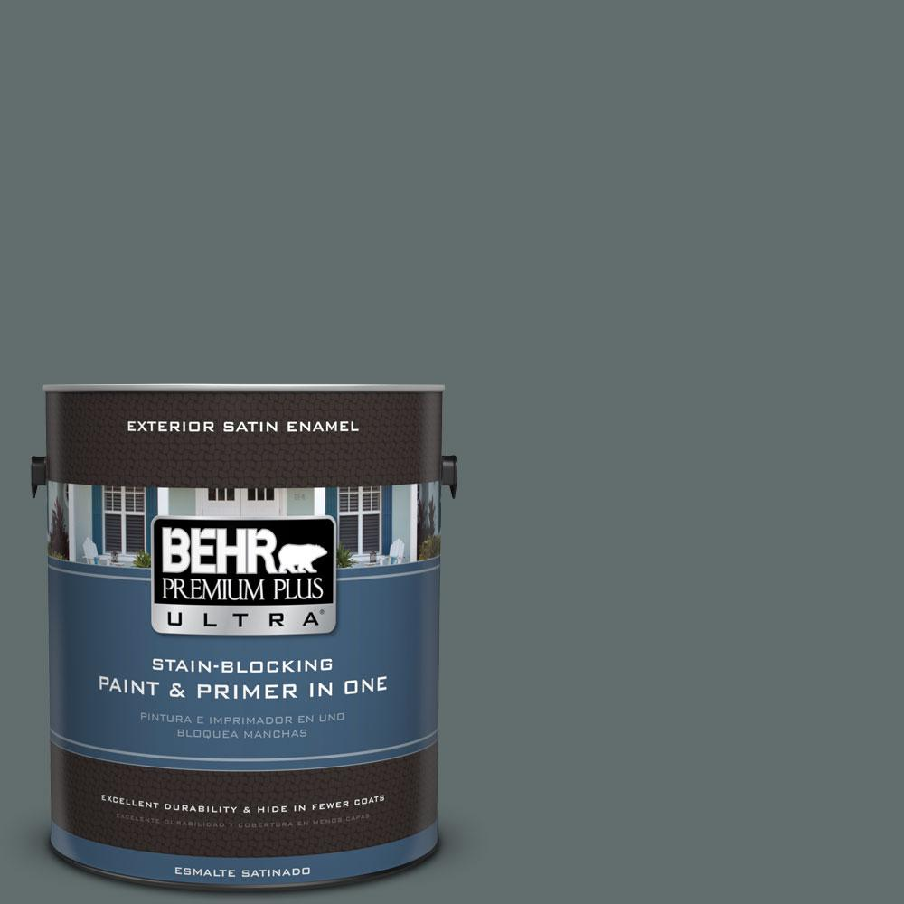 BEHR Premium Plus Ultra 1-Gal. #PPU12-19 Mountain Pine Satin Enamel Exterior Paint