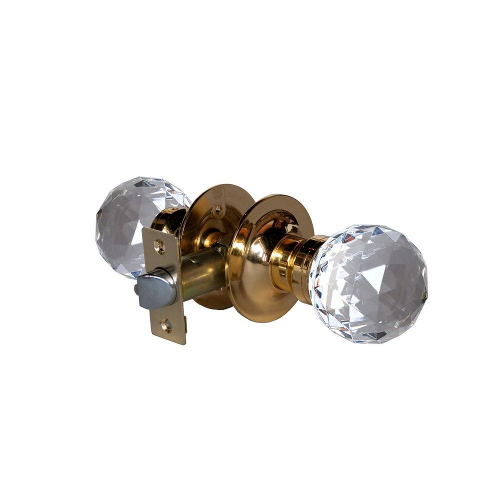 Krystal Touch of NY Epoch Crystal Brass Passive Door Knob with LED Mixing Lighting Touch Activated
