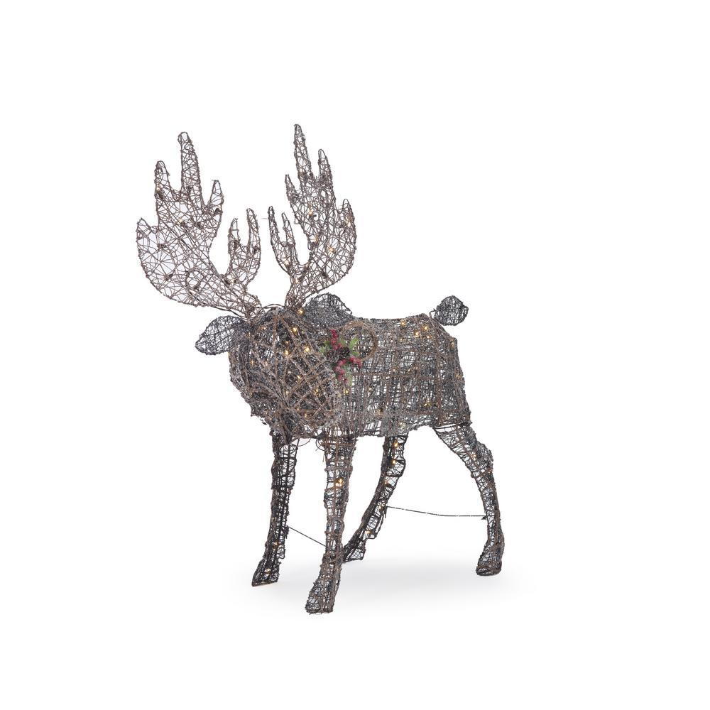 Meadow Frost 48 in. Christmas Brown PVC Moose