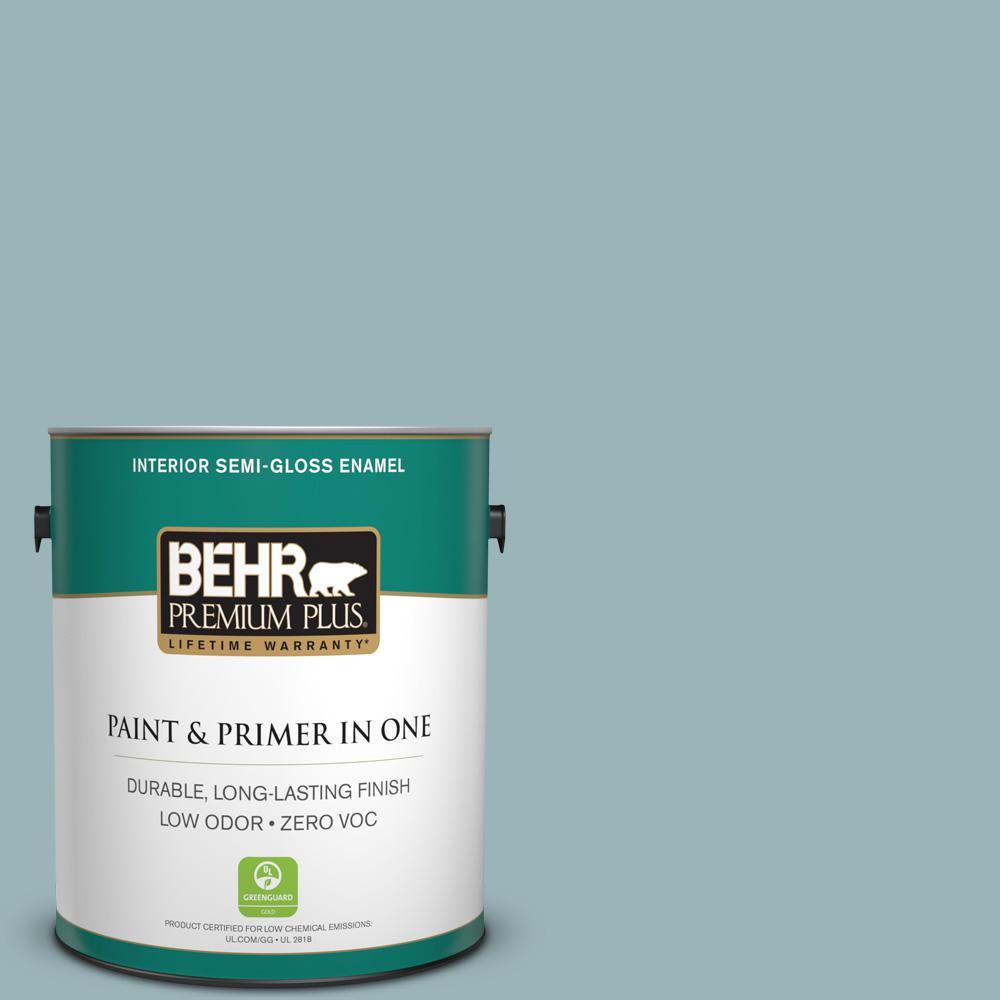 1 gal. #PPU13-12 Harmonious Zero VOC Semi-Gloss Enamel Interior Paint