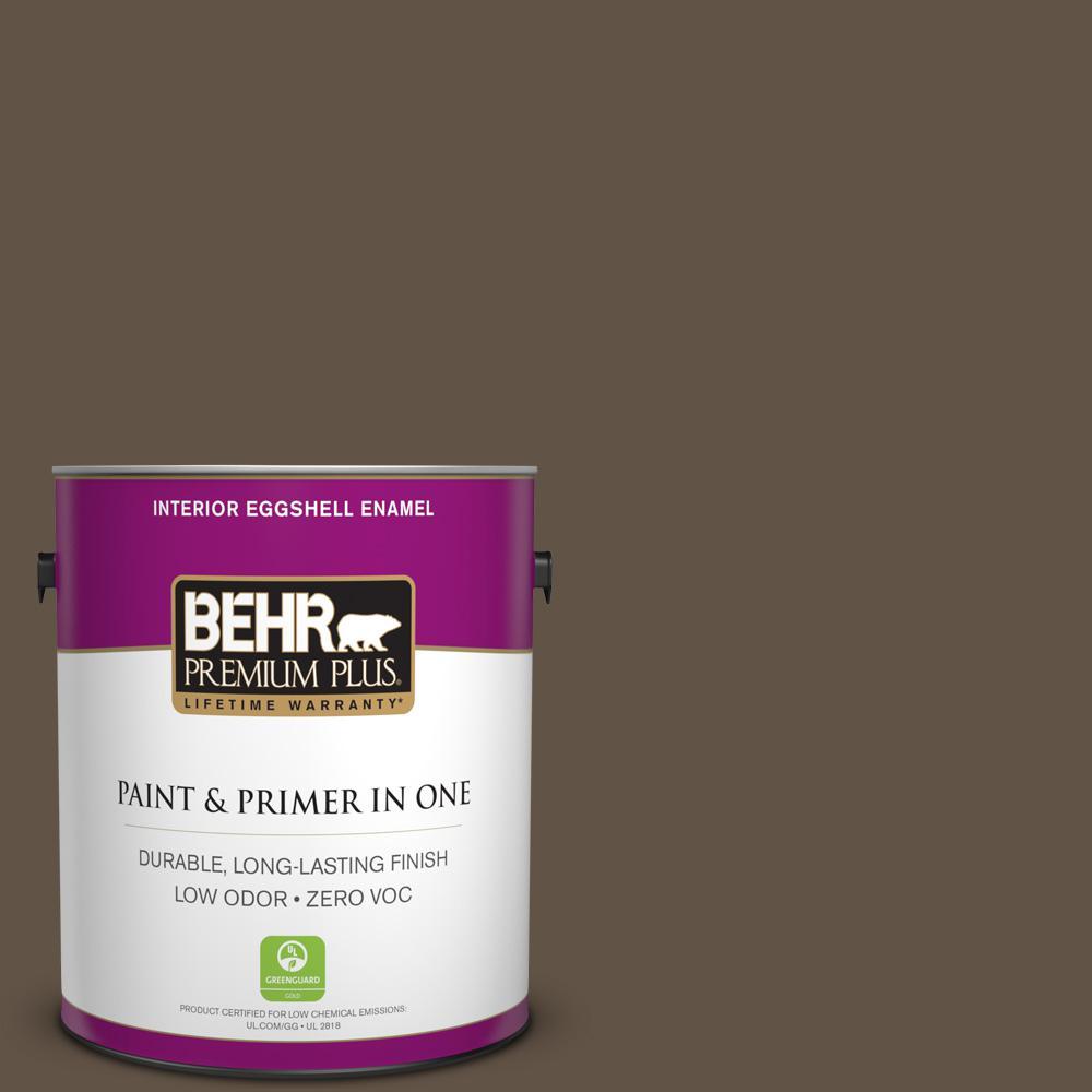 BEHR Premium Plus 1-gal. #N220-7 Cavalry Brown Eggshell Enamel Interior Paint