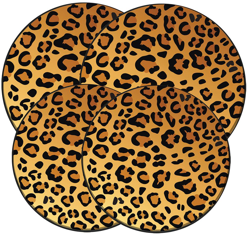 Range Kleen Wild Leopard Round Burner Kovers New. In the Wild - Leopard offers a fun way to accessorize your kitchen. This popular pattern is not only a great accent piece but gives a pop of color and print to make a statement in any kitchen. Set Includes: 2 Large, 2 Small Burner Kovers.