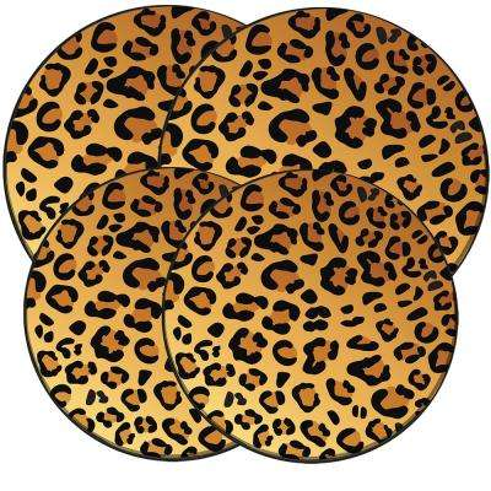 Wild Leopard Round Burner Kovers