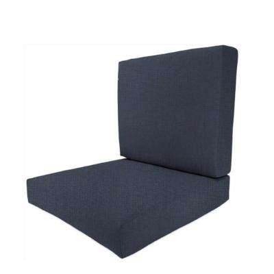 25 x 27 Outdoor Dining Chair Cushion in Sunbrella Indigo