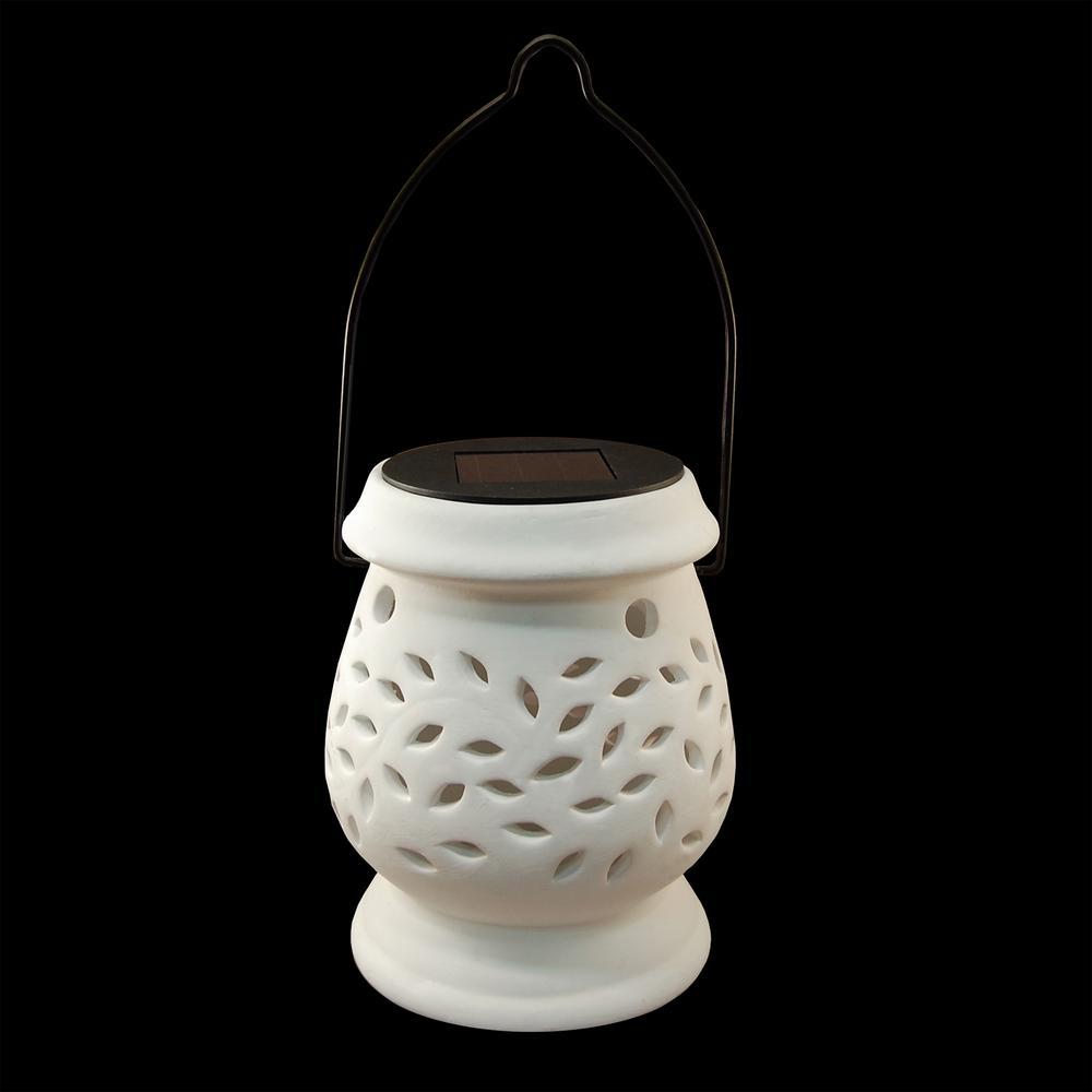 Solar 4.25 in. x 5.5 in. Ceramic Lantern