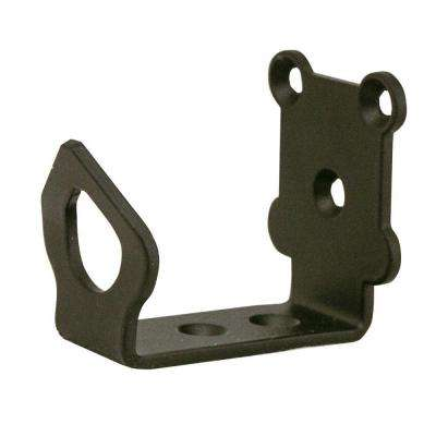 1-5/8 in. x 2-1/8 in. Universal Black Floor Bracket