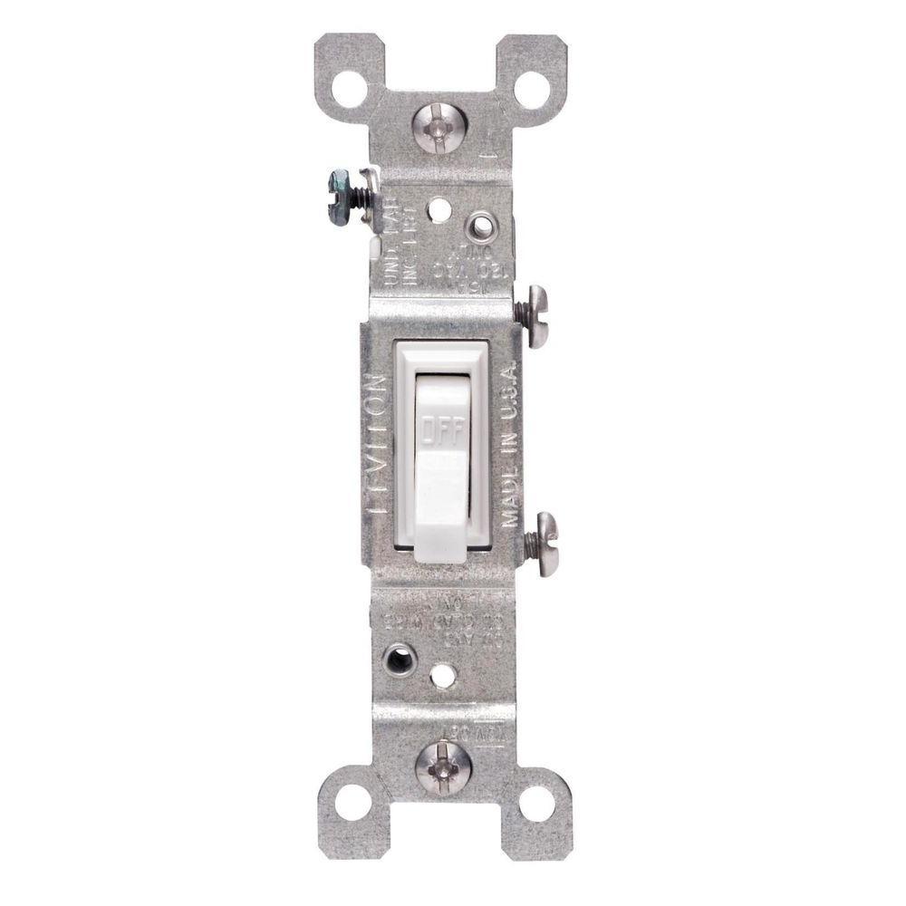 Leviton 15 Amp Single-Pole Switch, White (10-Pack) by Leviton