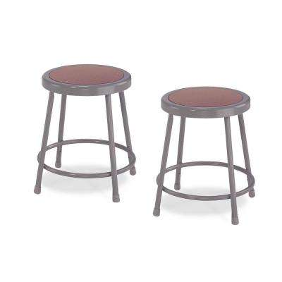 18 in. Grey Heavy-Duty Steel Stool (2-Pack)
