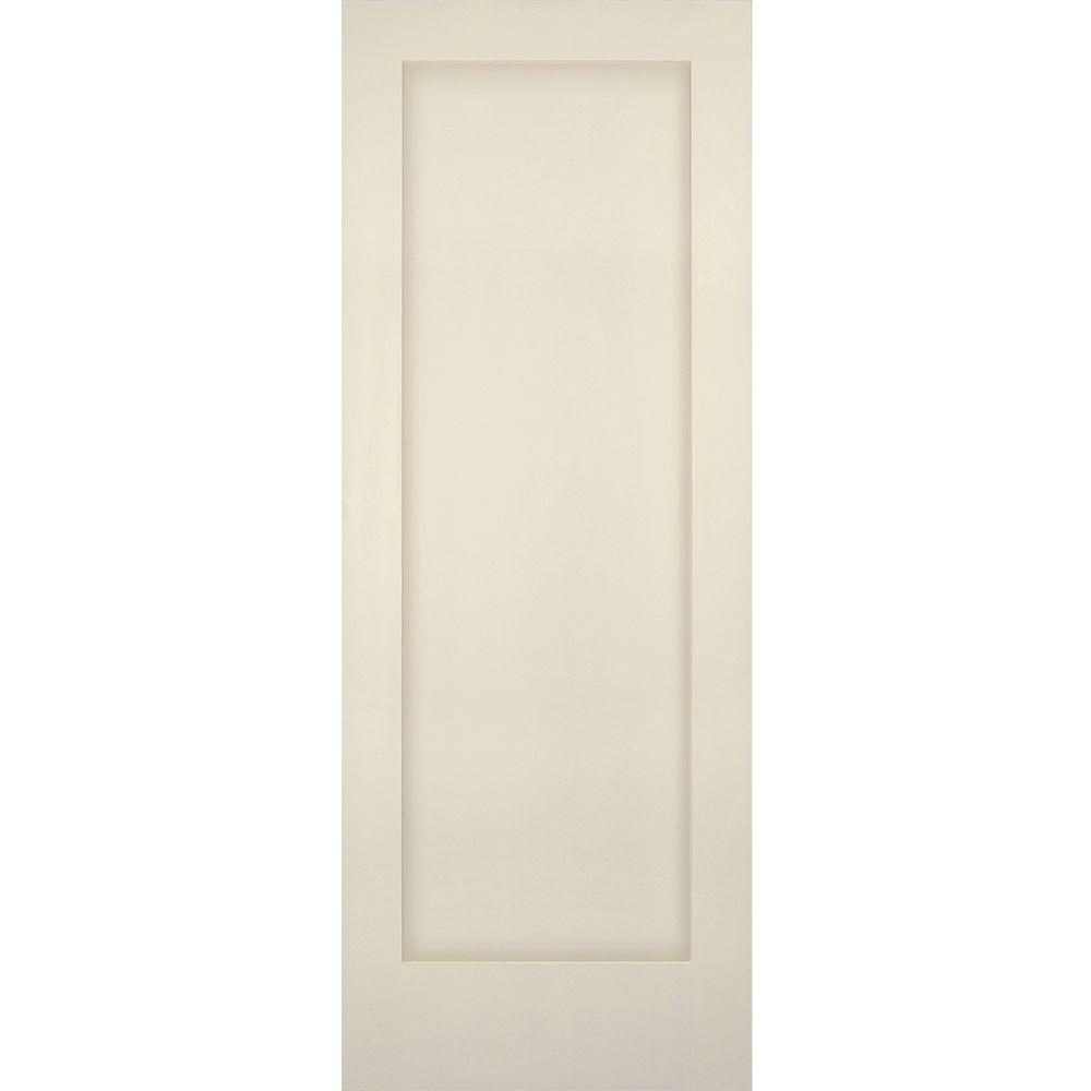 1 Panel Shaker Solid Core Primed Pine Single Prehung Interior Door