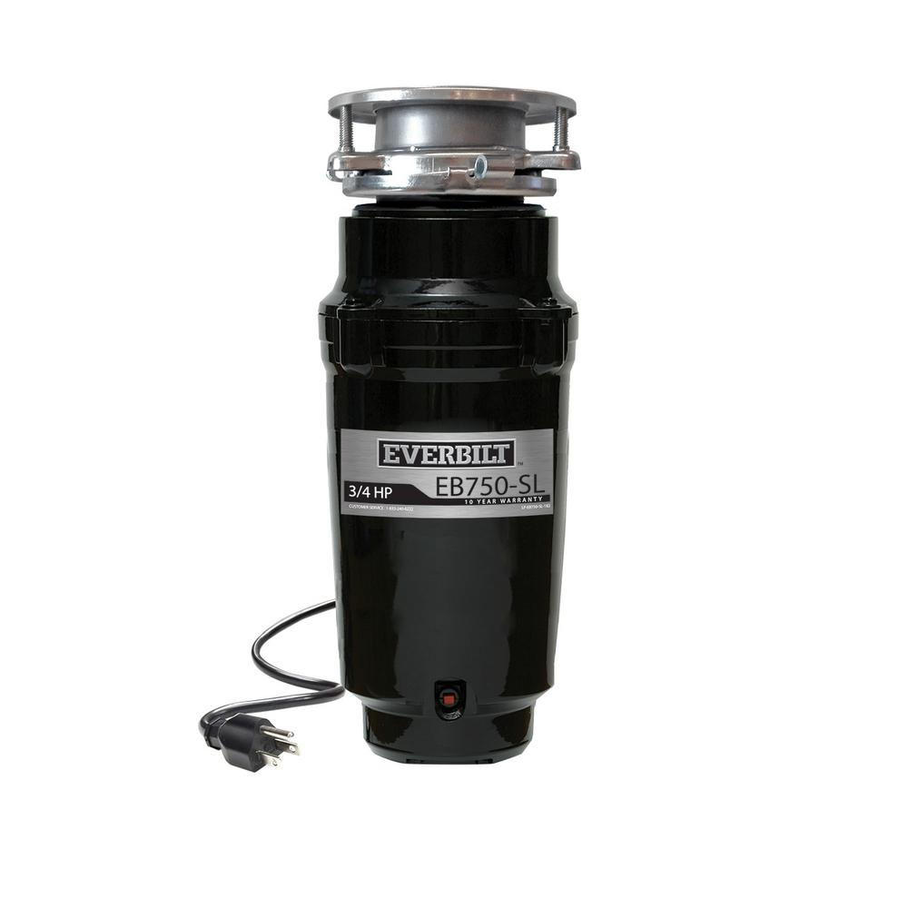 Everbilt 3 4 Hp Slim Continuous Feed Garbage Disposal With