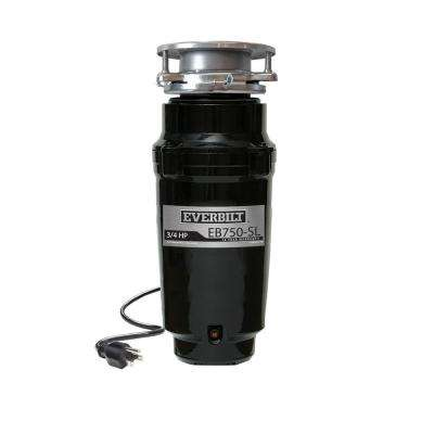 3/4 HP Slim Continuous Feed Garbage Disposal with Attached Power Cord