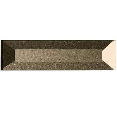 Secret Dimensions Bronze 2 in. x 8 in. Beveled Glass Wall Tile (9-Pack)