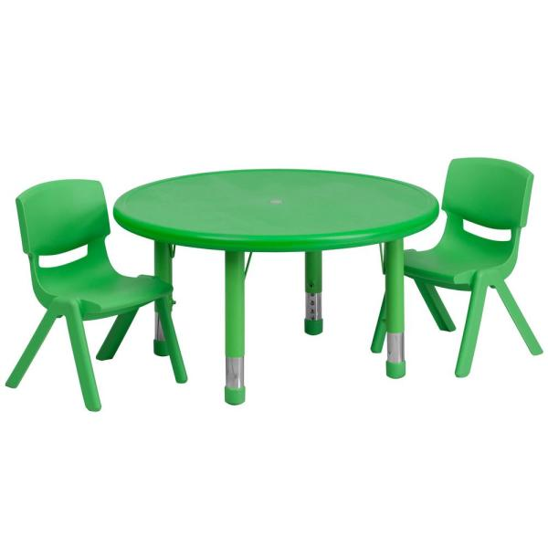Flash Furniture Green Kids Table And Chair Set