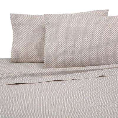 225 Thread Count Khaki Cotton Queen Sheet Set