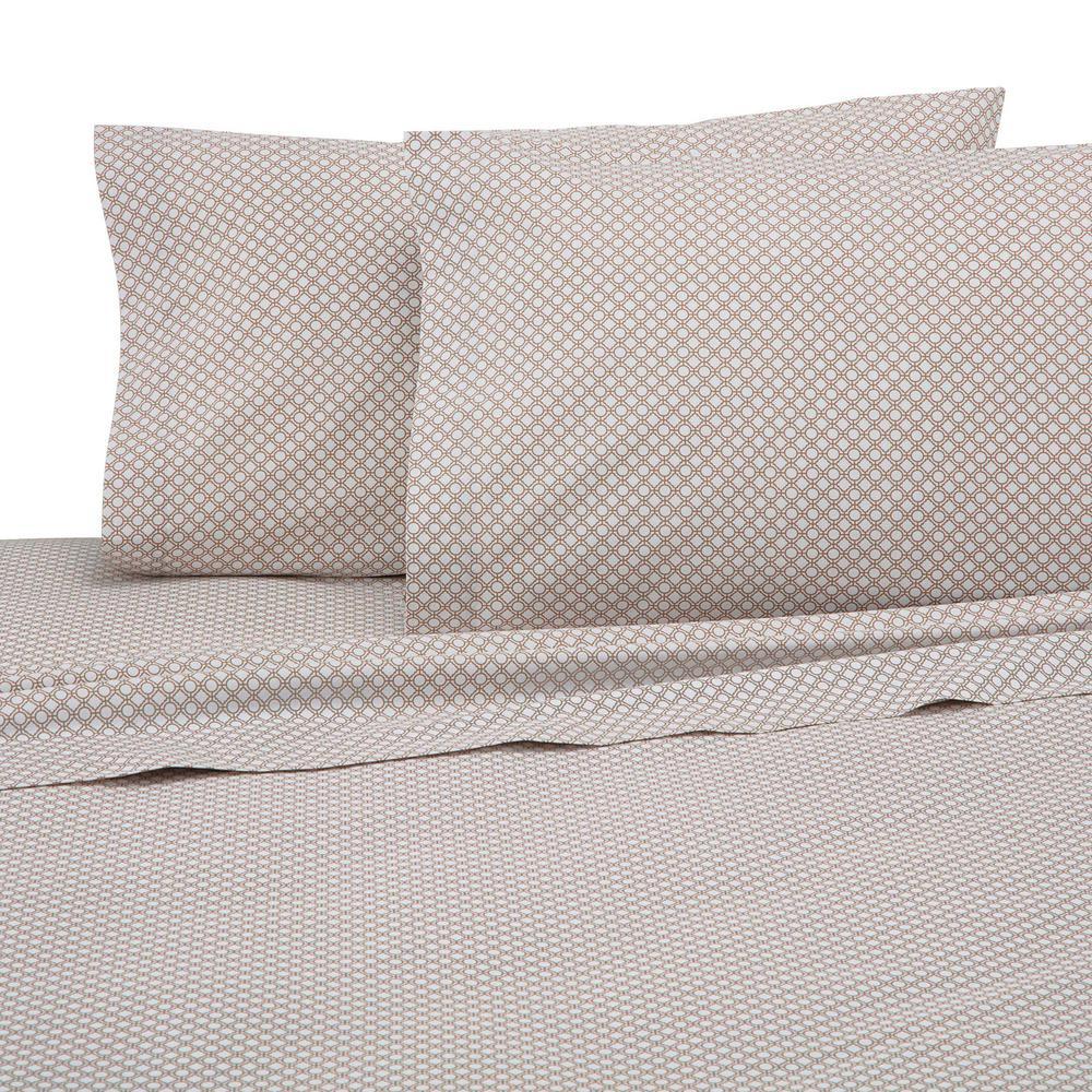 Martex 225 Thread Count Khaki Cotton Queen Sheet Set 028828323767
