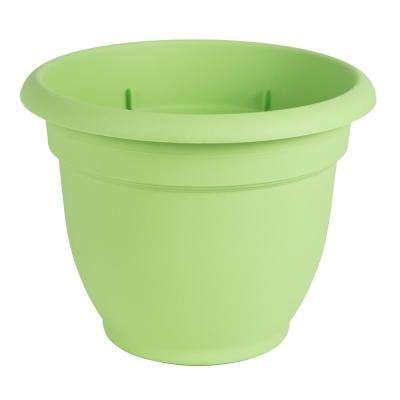 Ariana 8 in. Honey Dew Plastic Self Watering Planter
