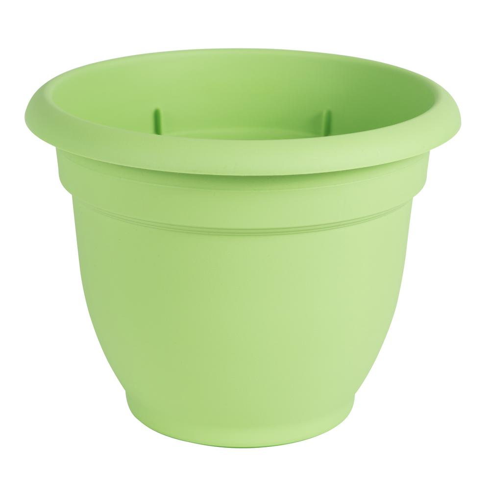 Ariana 12 in. Honey Dew Plastic Self Watering Planter