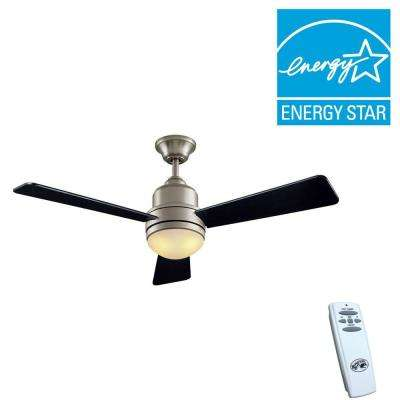 Trieste 52 in. Indoor Brushed Nickel Ceiling Fan with Light Kit and Remote Control